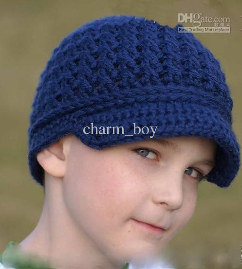 Free Boys Crochet Beanie Patterns | Wholesale - Baby Newsboy Beanie ...