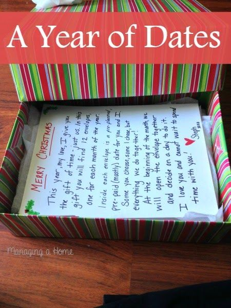 A Year of Dates Overview | Managing a Home Christmas Presents For Husband,  Christmas Date - Our Year Of Dates Christmas Present 2013 ~It's Going To Be So