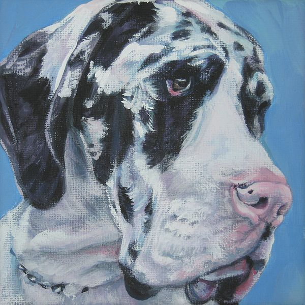 Harlequin Great Dane Dog Paintings Harlequin Great Danes Dog Art