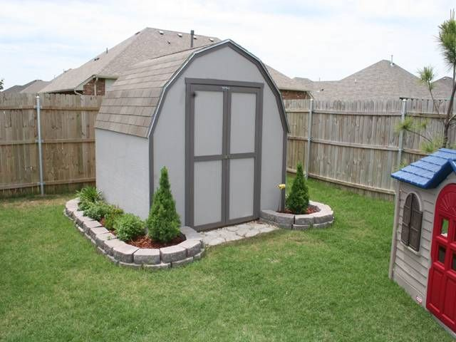 Landscaping Around Shed Shed Landscaping Backyard Storage Sheds