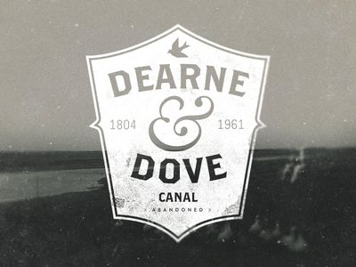 Awesome retro feel logo design for Dearne and Dove Canal by danielthall