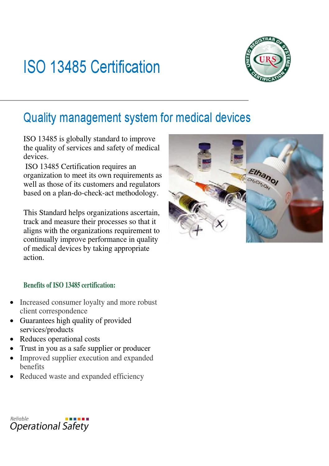 Certification To Iso 13485 Iso 13485 Certification Pinterest