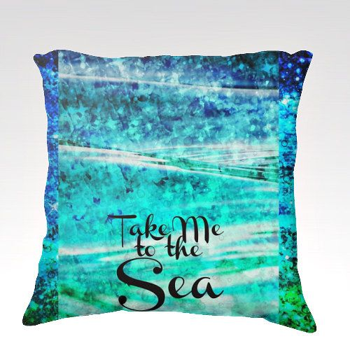 Take Me To The Sea Fine Art Velveteen Throw Pillow Cover