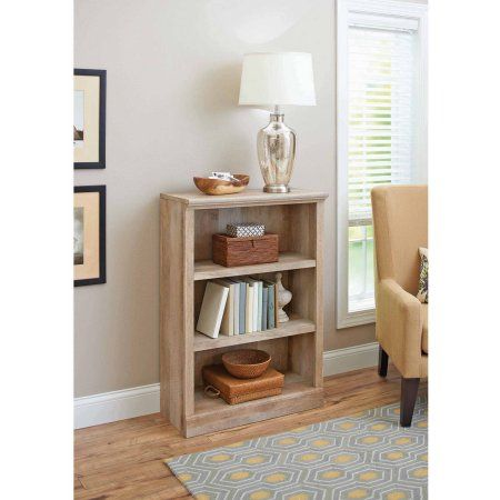 6ecbe27036cbfb6c7621deac4921b36d - Better Homes And Gardens Crossmill Collection 3 Shelf Bookcase Weathered