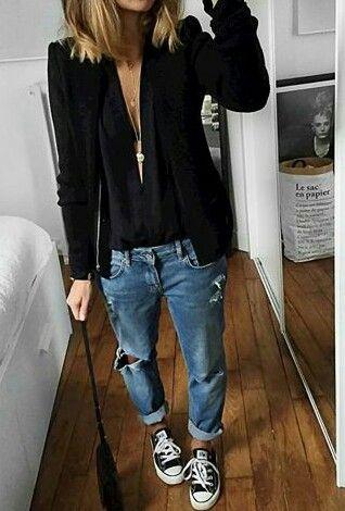 Pin By Anna Wegrzyn On Moda Ubrania Na Wiosne Stylizacje Dzinsy Chlopaka
