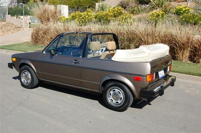 84 Vw Rabbit Convertible Mine Was Green With A Tan Soft Top I Got It Used In 88