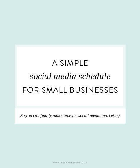 A Simple Social Media Schedule For Small Businesses  Business