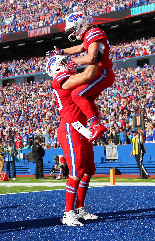 Wr Cole Beasley And C Mitch Morse Buffalo Bills Buffalo Bills Football Bills Football