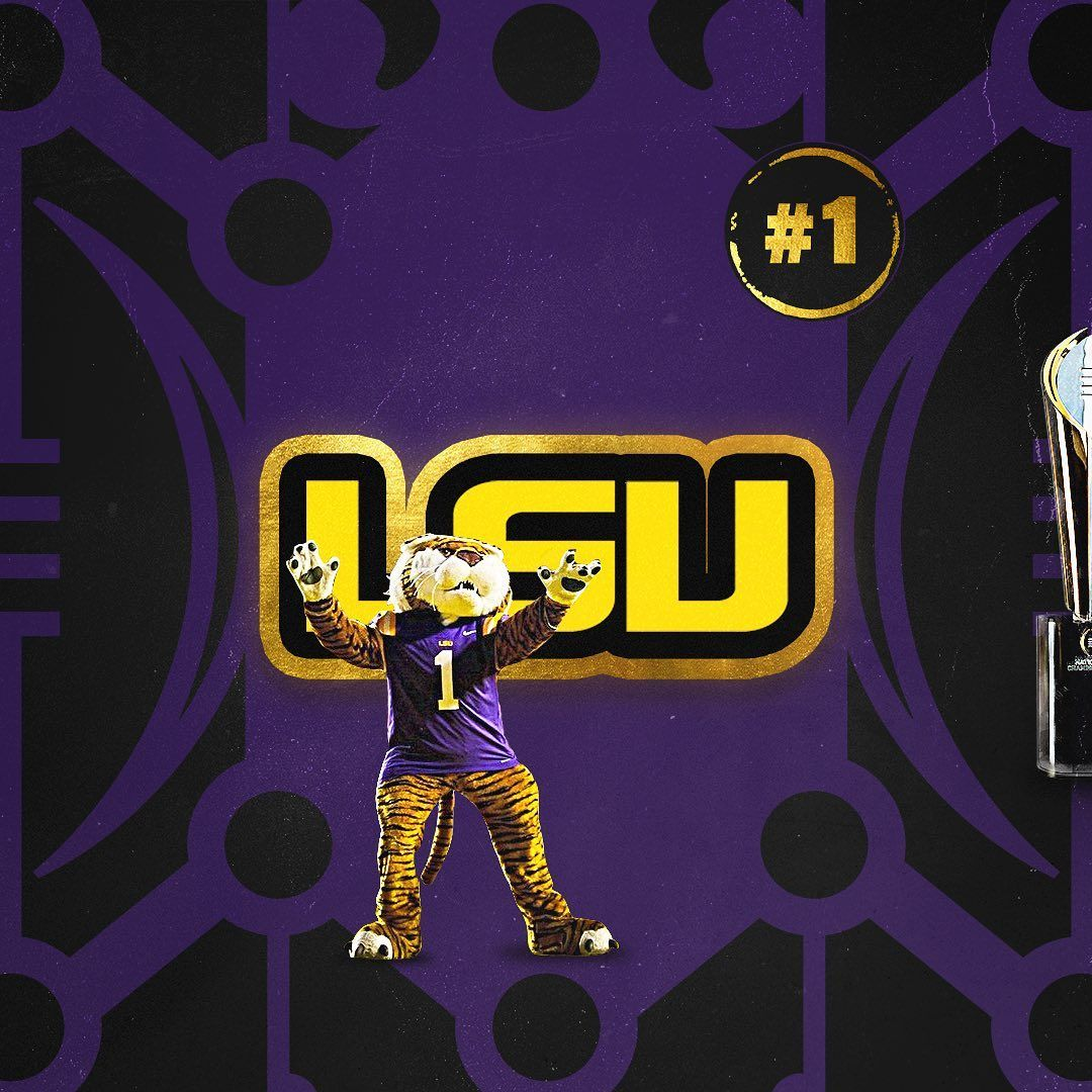 College Football Playoff On Instagram Icymi The Cfbplayoff Top 4 1 Lsu Geauxtigers 2 Ohio Stat In 2020 Lsu College Football Playoff Ohio State Football