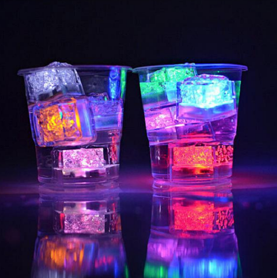 Led Colorful Glow Ice Cubes 12 Pcs Led Ice Cubes Glow In Dark Party Neon Party Decorations