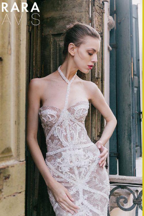Wedding dress Korsal by Rara Avis. Sweetheart neckline mermaid lace ...