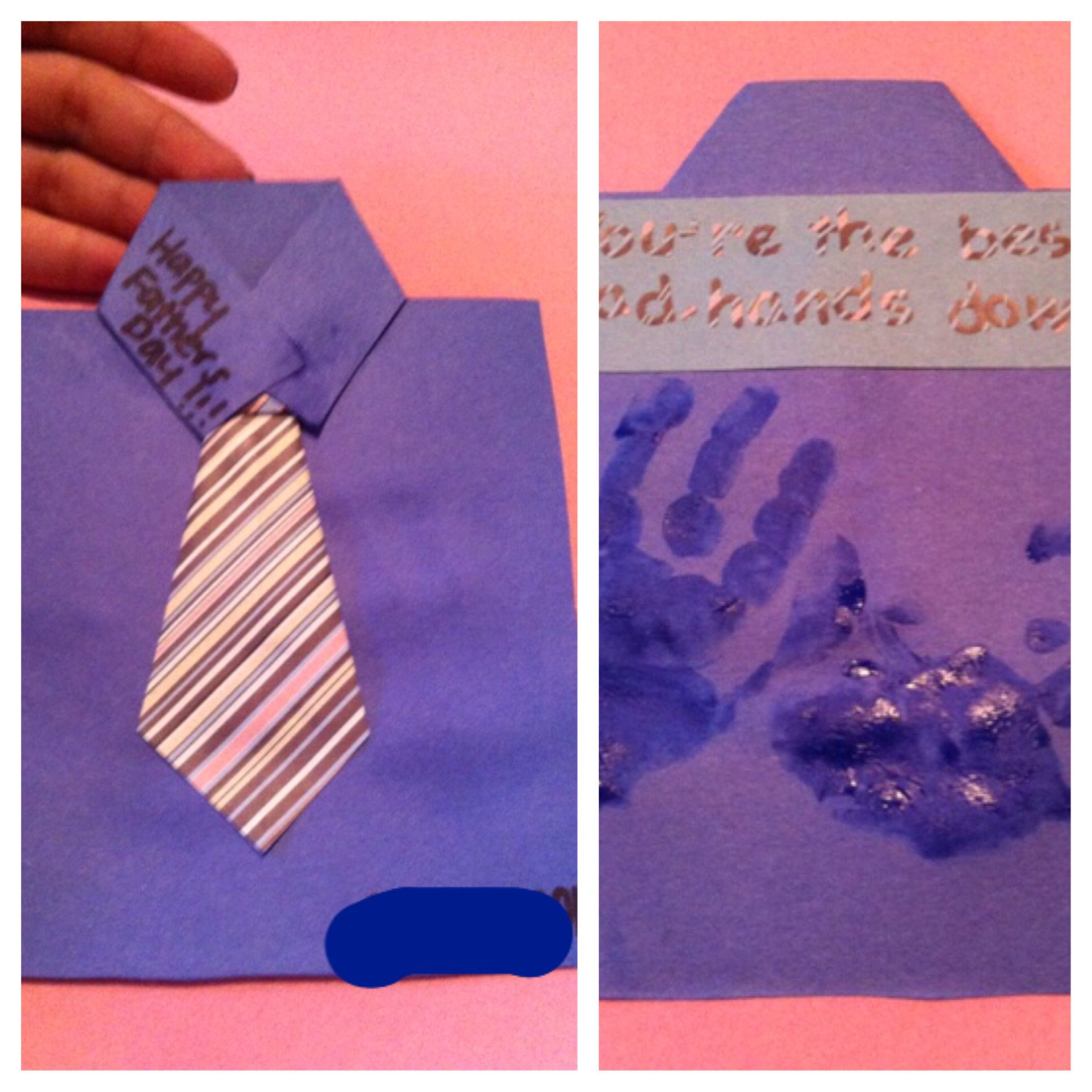 Father's Day Art Craft Activity Toddlers Preschool Card