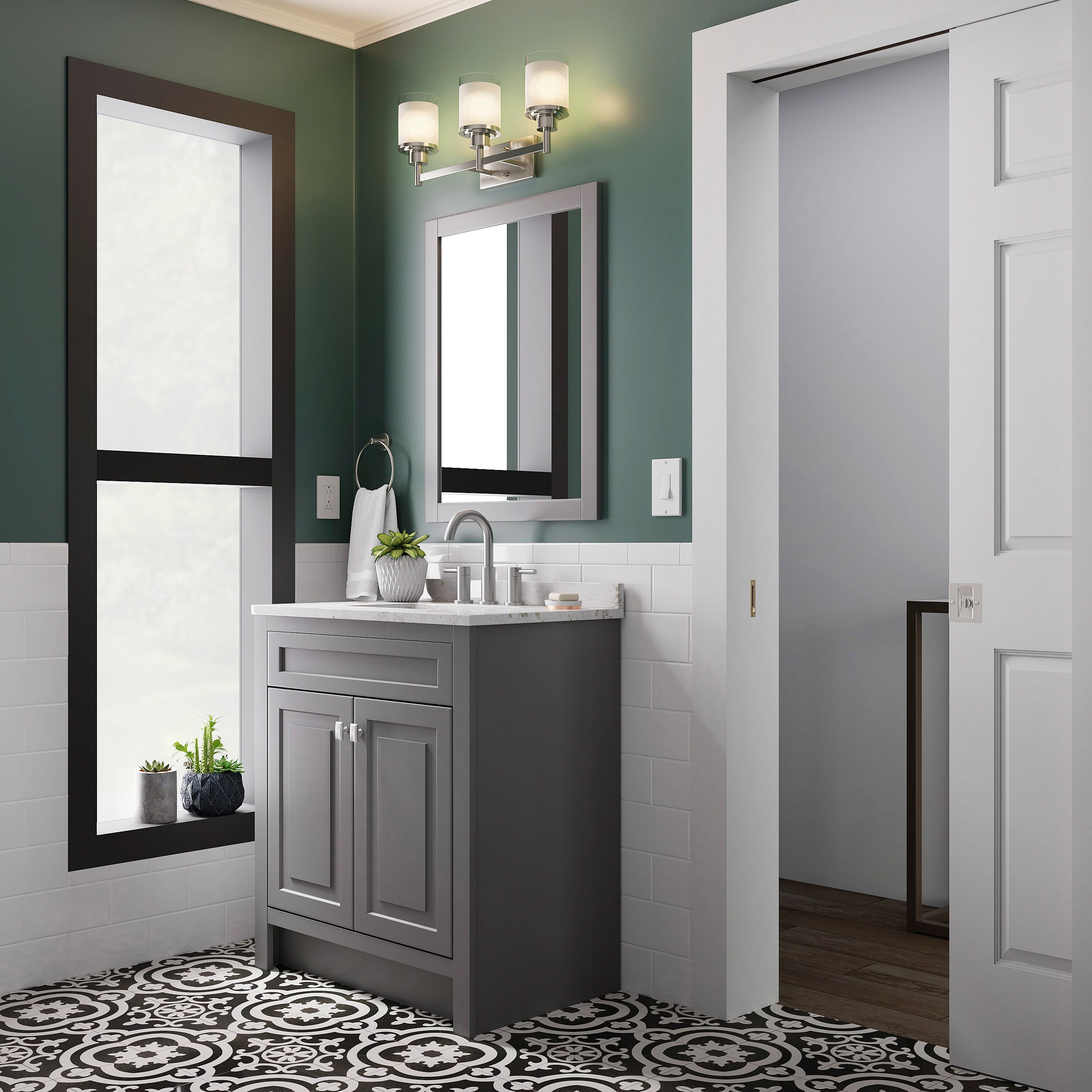 Style Selections 30 5 In Slate Single Sink Bathroom Vanity With