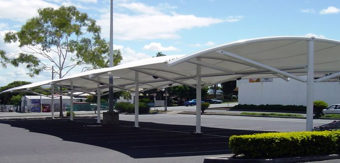 Tensile Fabric Carparkingshade Structure For Single Or Multiple Car Park Sheds Shadesofwhite Car Parking Tensile Structures Car Canopy