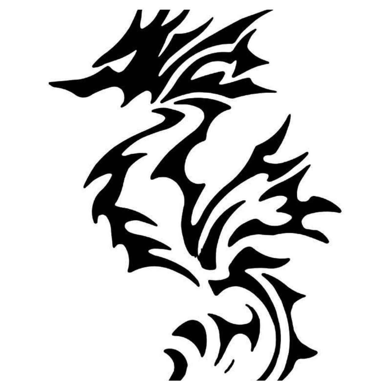 dfd7bf872 Tribal Dragon 47 Vinyl Decal Sticker | Animal | Vinyl decals, Decals ...