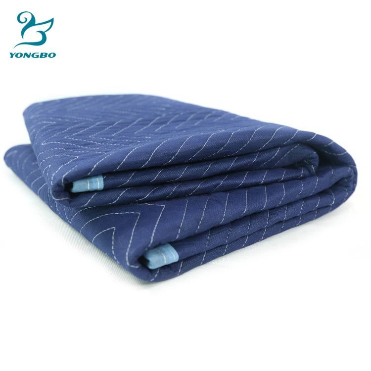 Blue Polyester Moving Blankets Quilted Pattern Recycled Materials Top Selling Products Moving Blankets Recycled Blankets Things To Sell