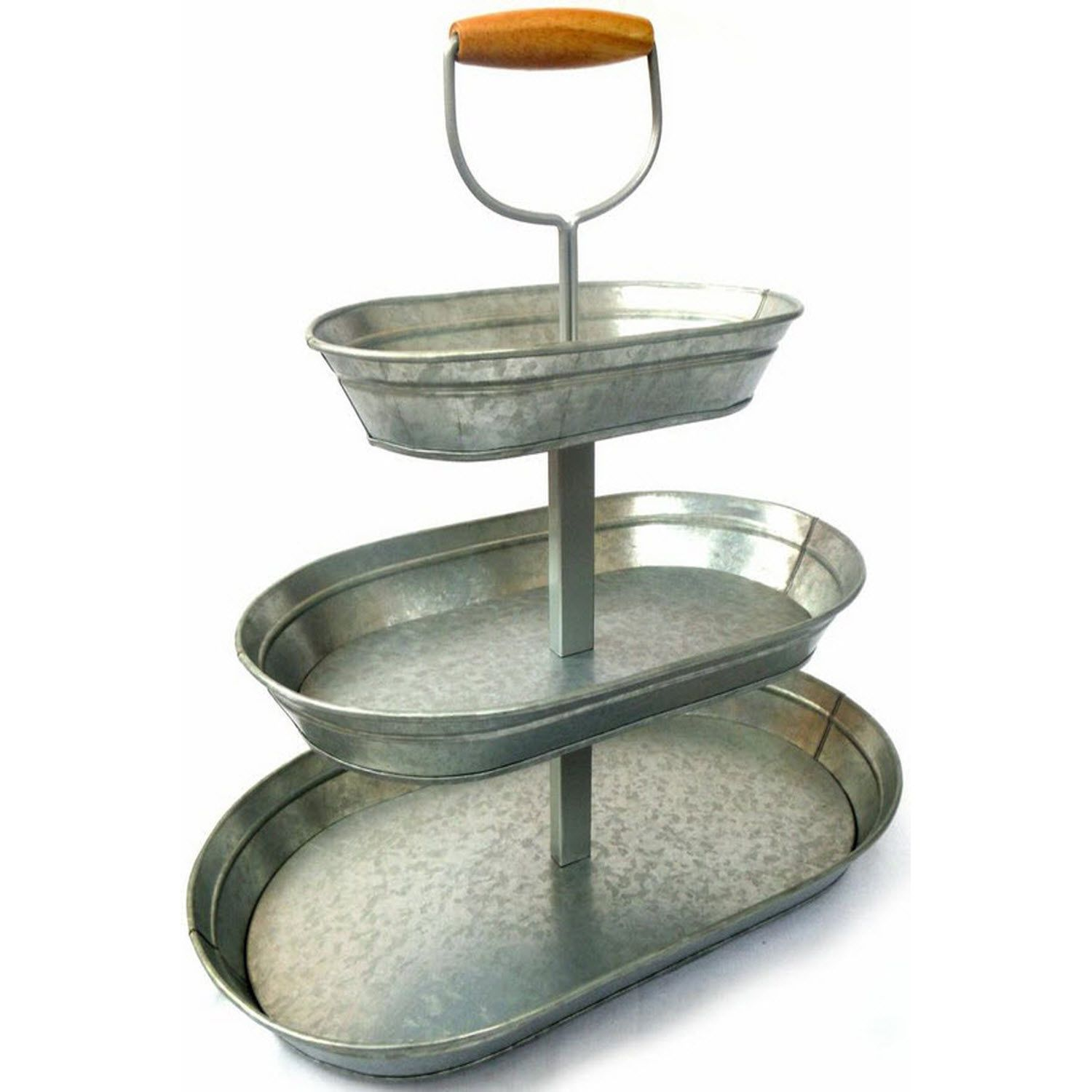 Triple Tier Glavanized Steel Serving Stand 2 97 Shipping Sam S Club Serving Stand Galvanized Metal Metal