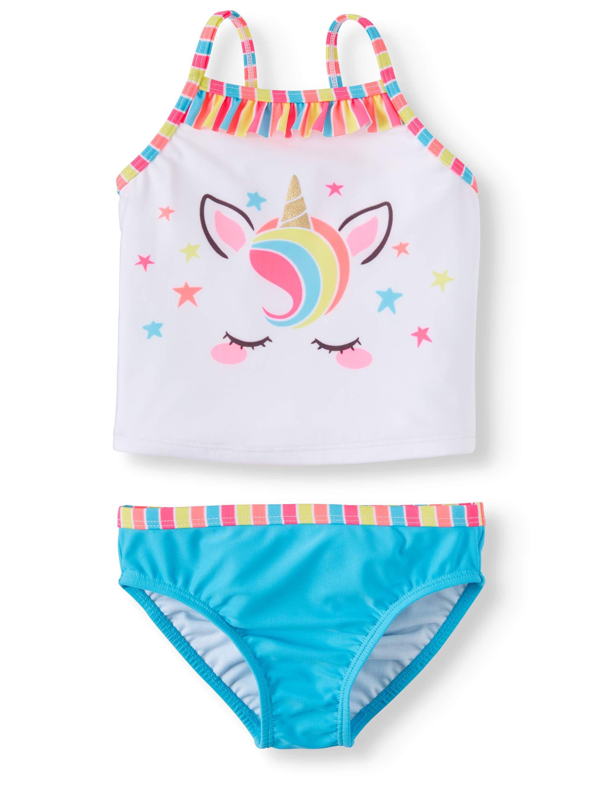 099713861c1 Wonder Nation Unicorn Tankini with Ruffles (Toddler Girls) | Aria ...
