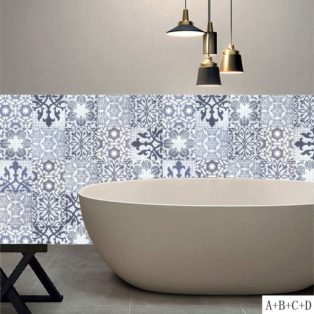 2018 promotion new arrival vintage arabian brown tile stickers mural ...