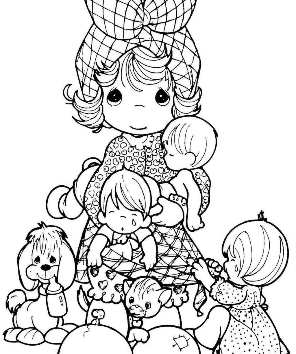 Image result for precious moments coloring pages printable sisters ...