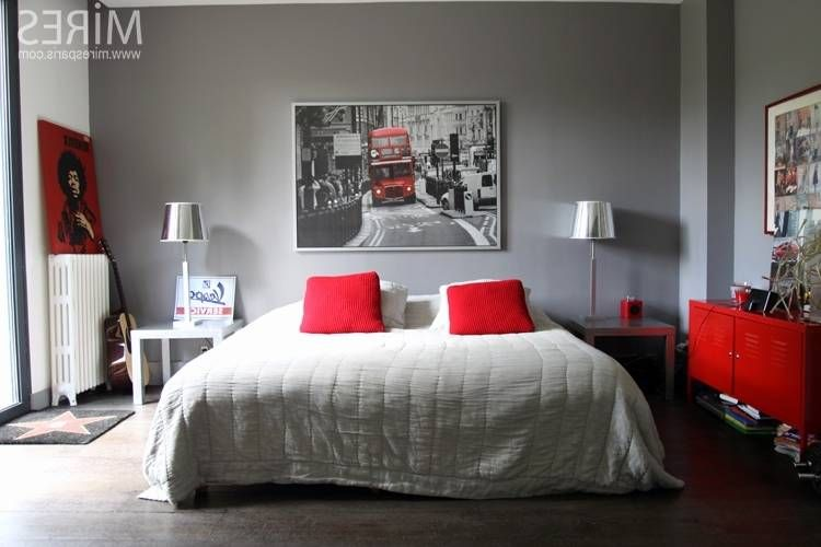 Chambre ŕ Coucher Moderne Blanche Rouge Chambre Chambre Rouge