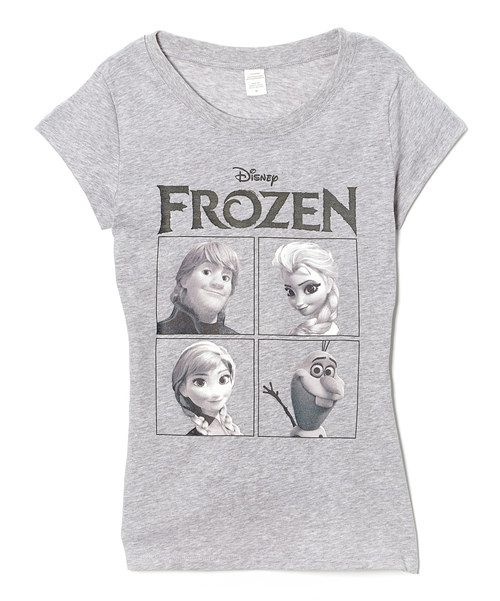 Take a look at the Heather Gray Frozen Tee - Juniors on #zulily today!