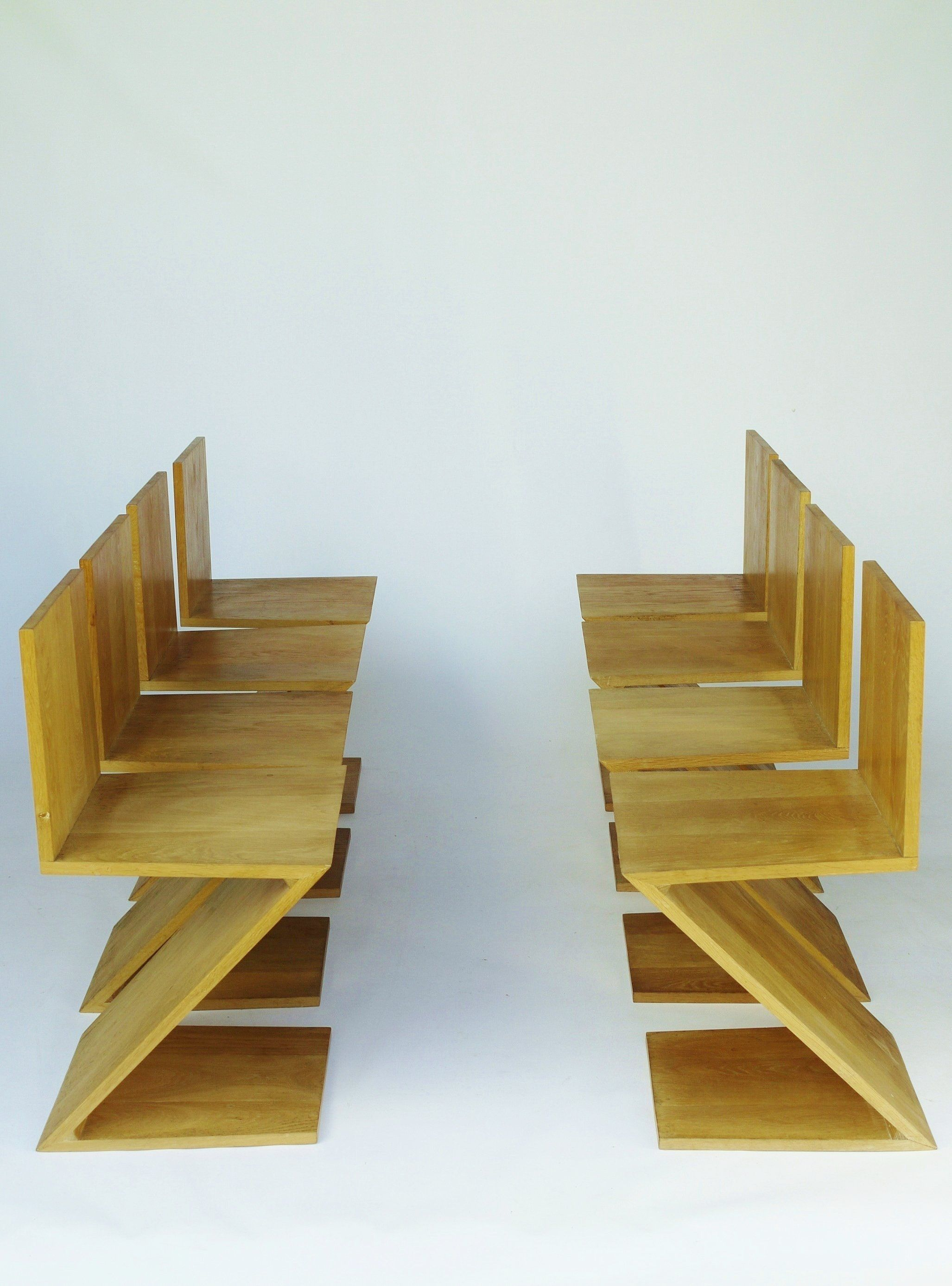 Gerrit rietveld chair for sale - Oak Chairs By Gerrit Rietveld