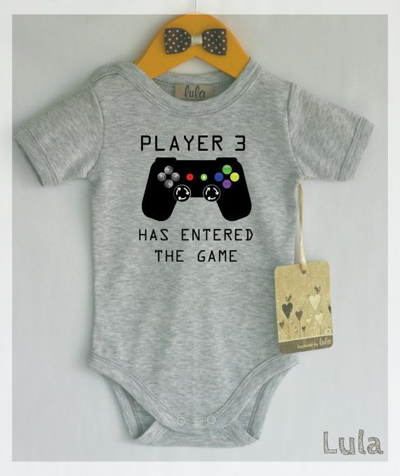 c35e2892dcde Player 3 has entered the game. Funny baby boy clothes. Video games ...