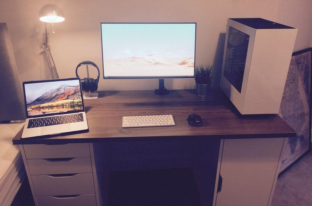 Rgb Needed Battlestations White Computer Desk Office Setup Office Desk Decor