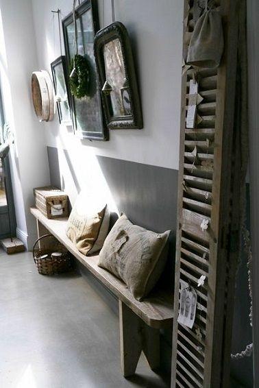 10 d co couloir qui donnent des id es style rustique for Decoration interieure couloir entree