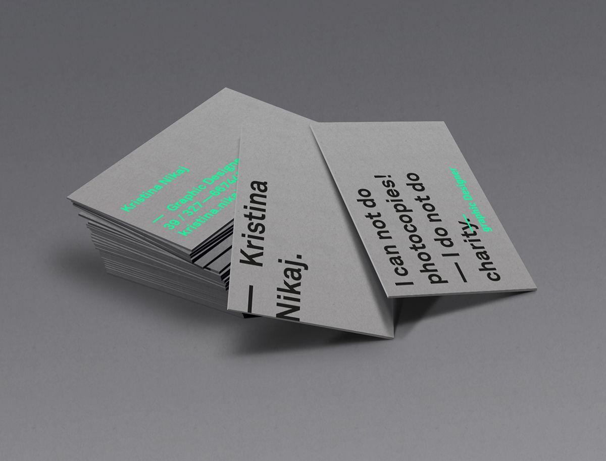 personal business card on Behance | by Kristina Nikaj | Business ...
