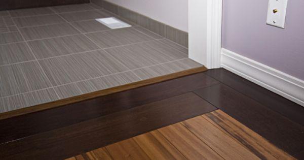 Wood Tile Floor Transition