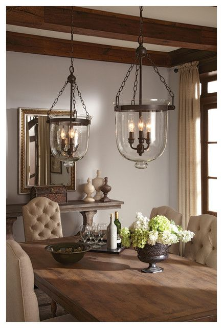 Westminster Large Autumn Bronze Indoor Pendant With Cloche Glass