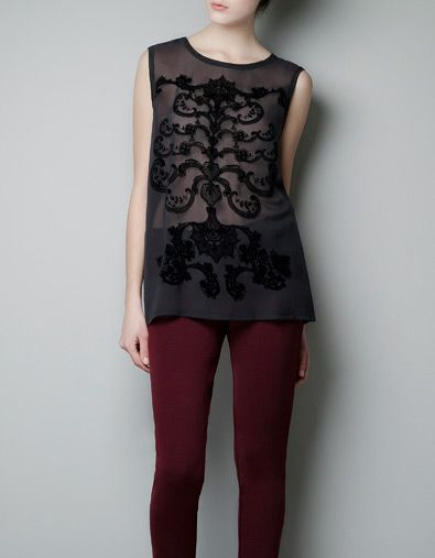 BAROQUE STYLE SLEEVELESS TOP