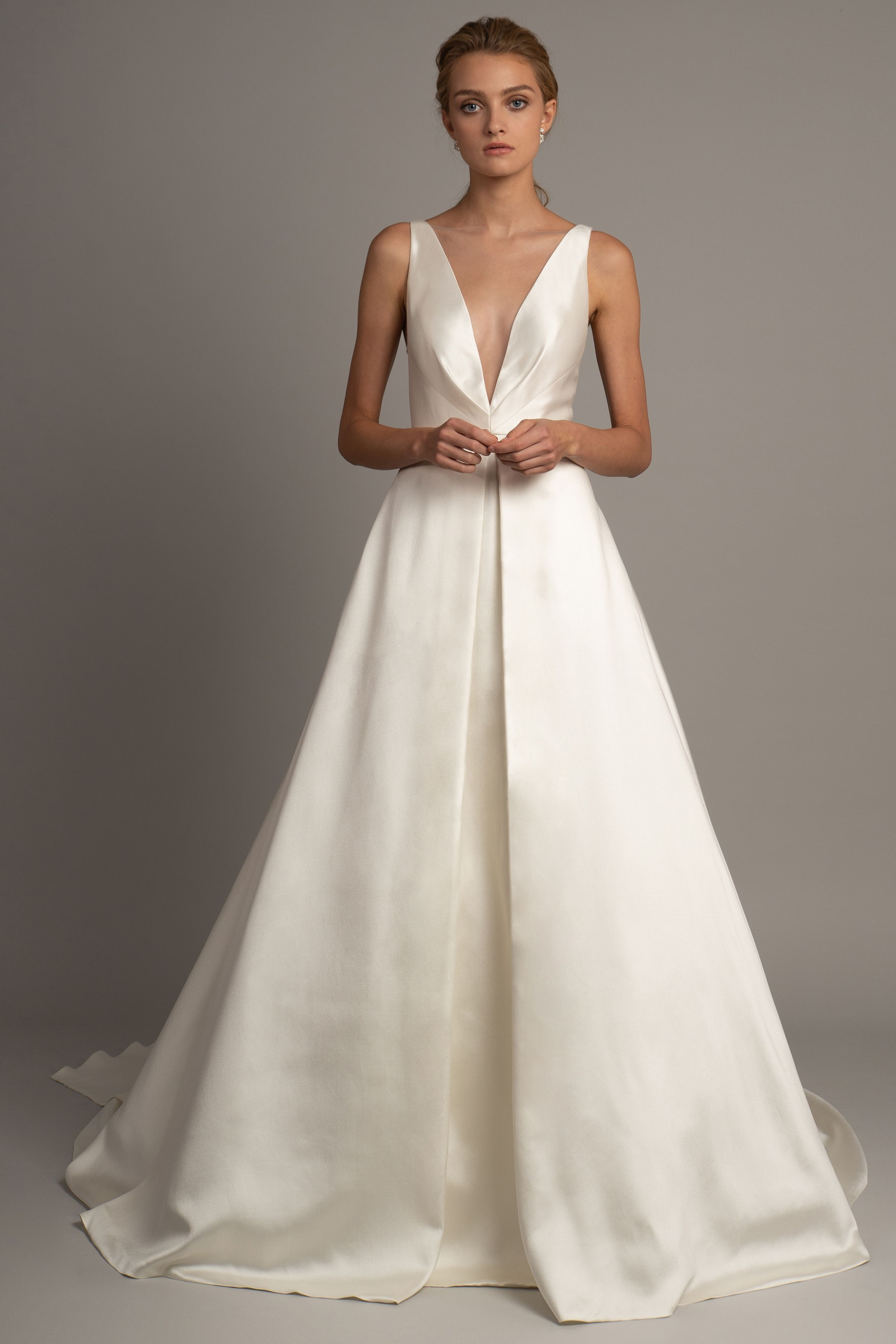 A decadent statement the anderson gown is a regal a line