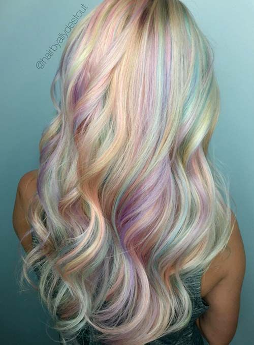 50 Bold Pastel And Neon Hair Colors In Balayage And Ombre Neon Hair Color Hair Color Pastel Pastel Rainbow Hair