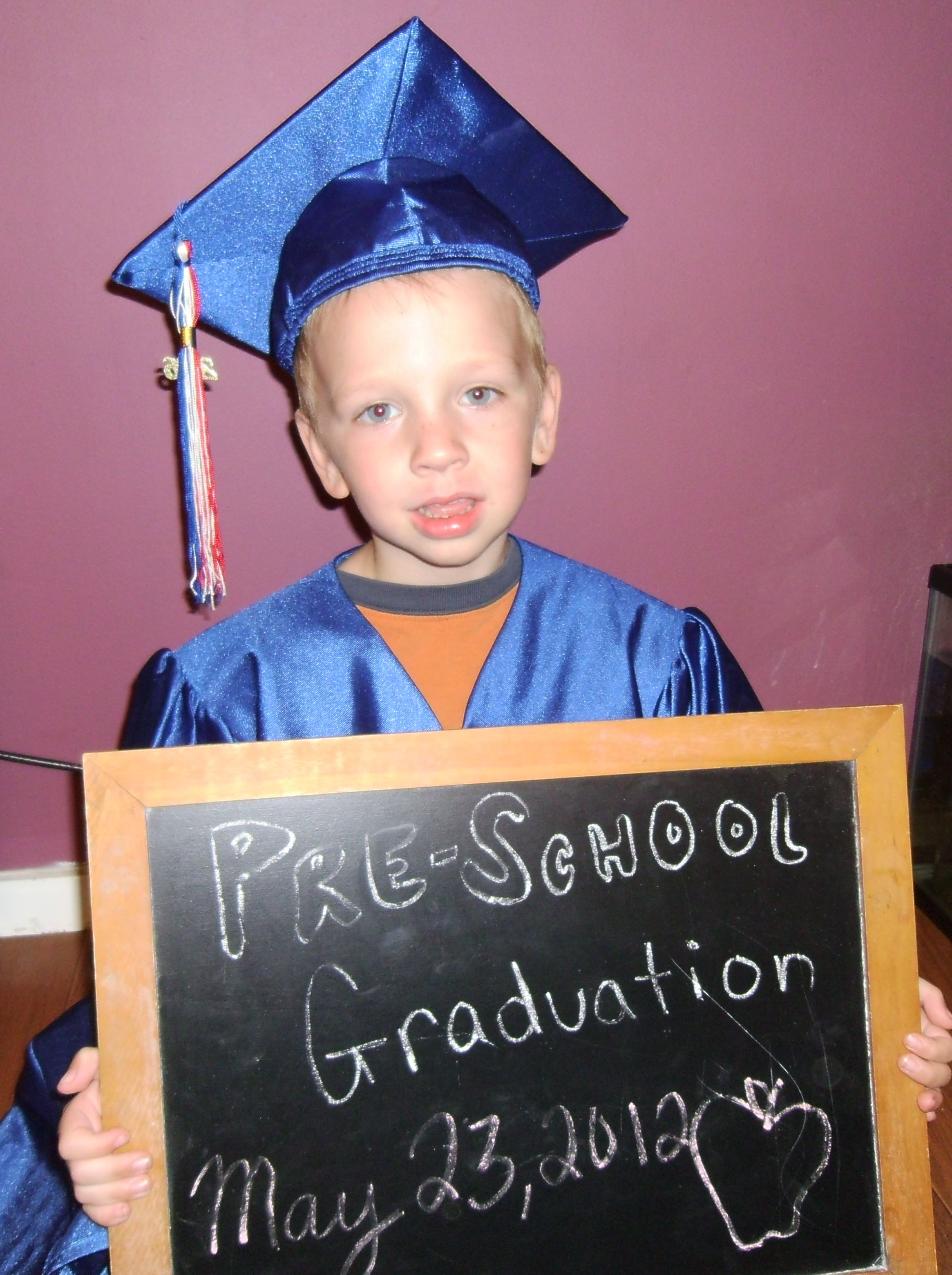 His Preschool Graduation Picture In My Cap And Gown