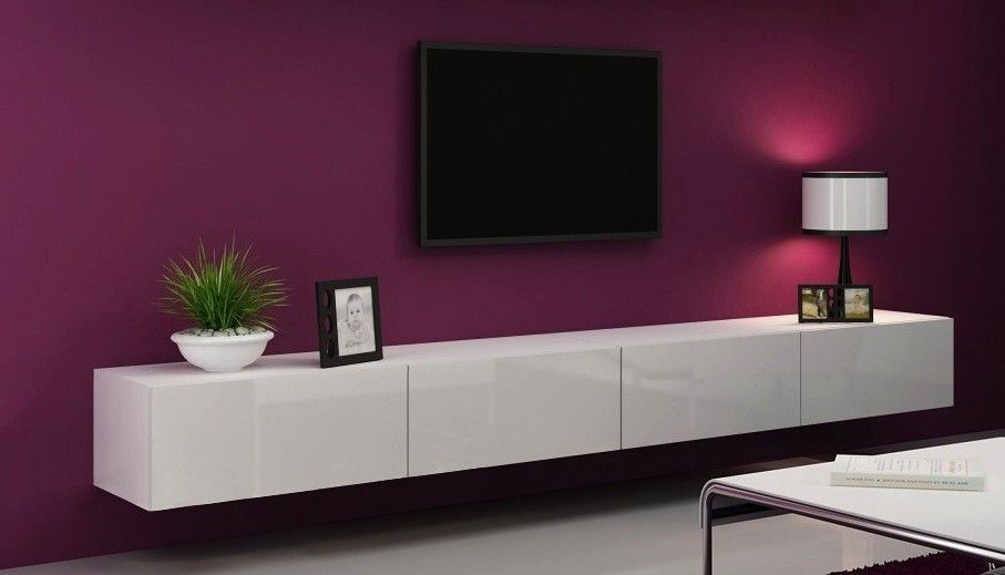 Tv meubel lang wit open google zoeken interieur for Tv dressoir hoogglans wit