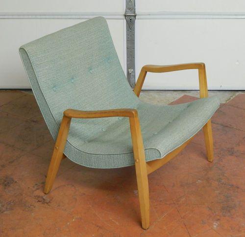 Antieke Lounge Stoel.Vtg Antique 1950s Milo Baughman Scoop Lounge Chair Mid Century