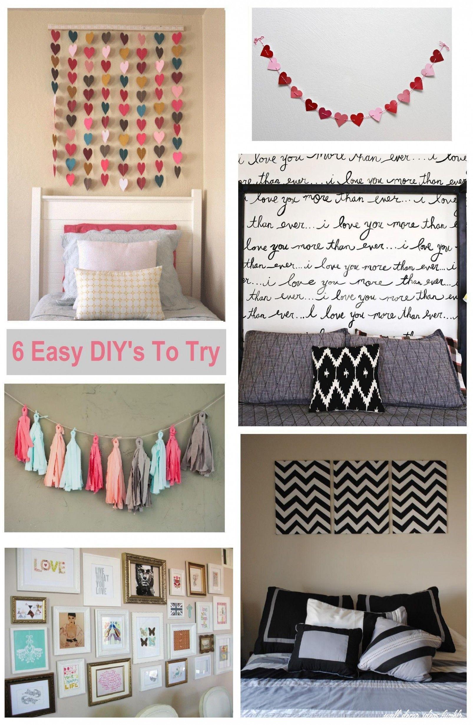 3 Wall Decor Ideas Tumblr in 3  Diy room decor, Bedroom diy