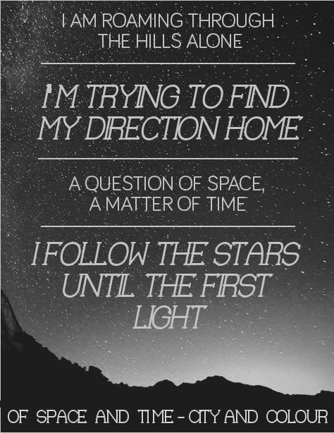 City And Colour Of Space Time Music Pinterest City And