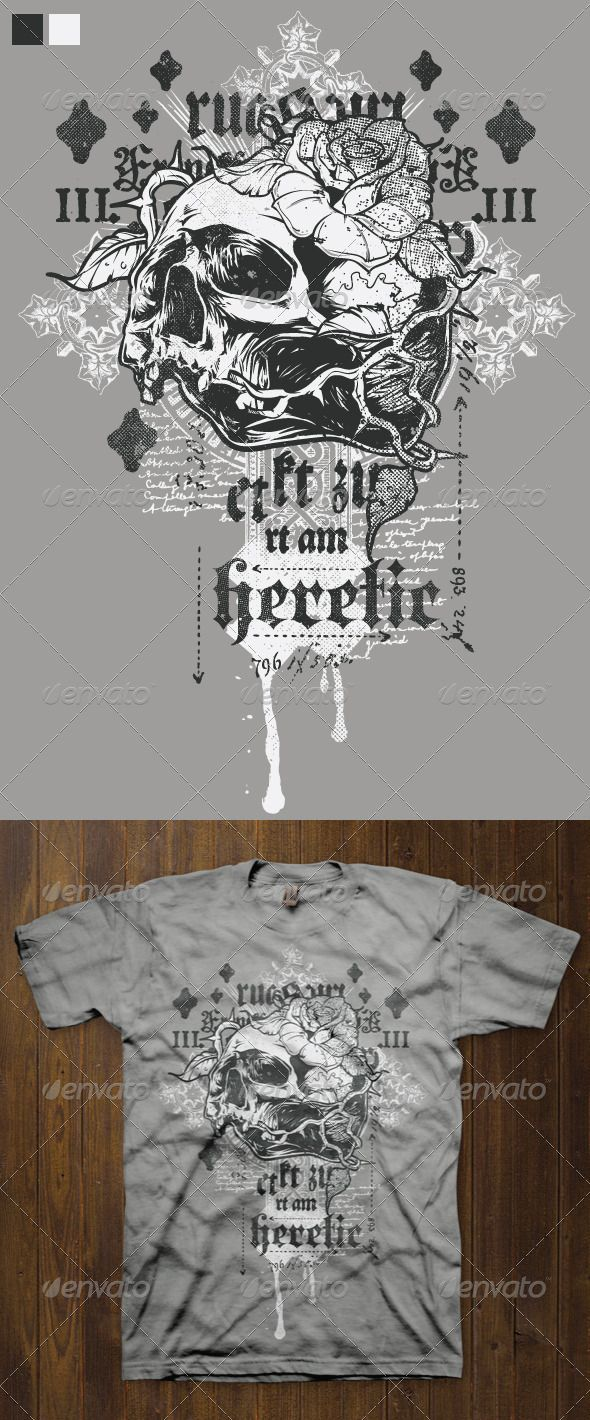 Shirt design illustrator template - T Shirt Design Template 1