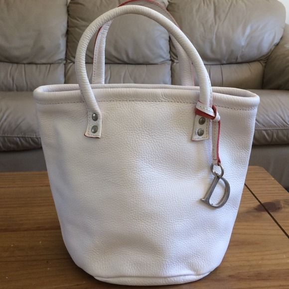 White Handbag Dimoni Julio Maesstre Leather From Spain Whit Exterior With Red