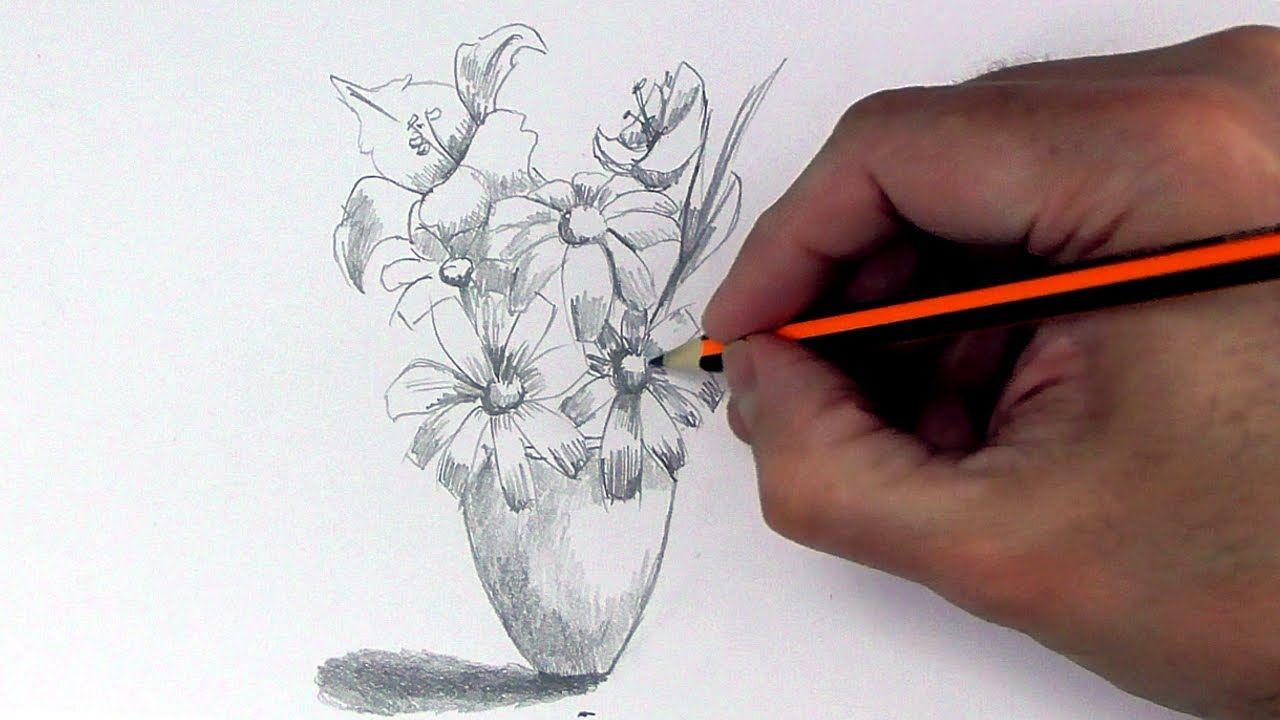 Como Dibujar Un Ramo De Flores Con Lapiz Normal Paso A Paso Y Muy Facil Flores A Lapiz Tutorial De Dibujo Tutoriales De Dibujo Para Principiantes