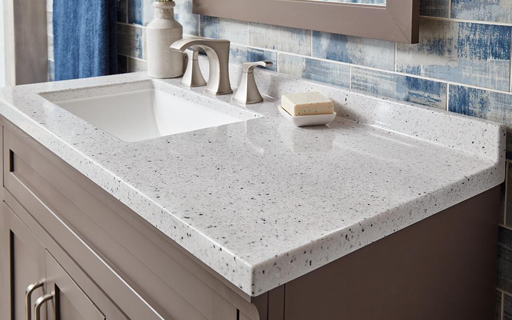 A Single Sink Vanity Top Choosing A Bathroom Vanity In 2020 Bathroom Vanities Without Tops Bathroom Countertops Bathroom Vanity Tops