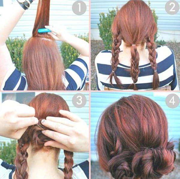 Прически на средние волосы: с челкой и без, своими руками ...