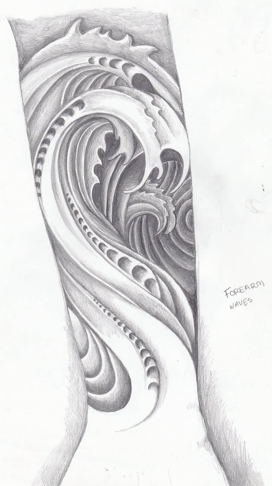 Bio Wave Tattoo On Sleeve Tattoes Idea 2015 2016 Waves Tattoo Tattoos Japanese Wave Tattoos
