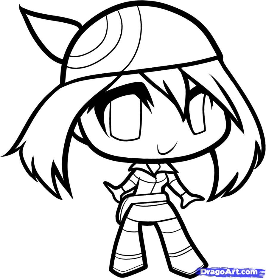 How to Draw Chibi May May Step by Step Chibis Draw Chibi Anime
