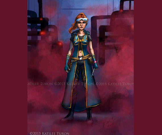 Fantasy Painting Digital Art Sci-Fi Art  Colony by ADKArtsBoutique