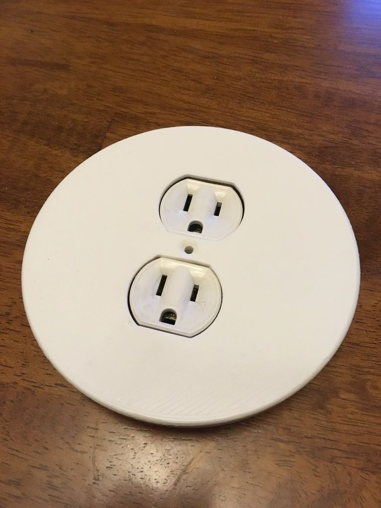 Round Outlet Cover Plate By Tuxcat Thingiverse Outlet Covers Outlet Round